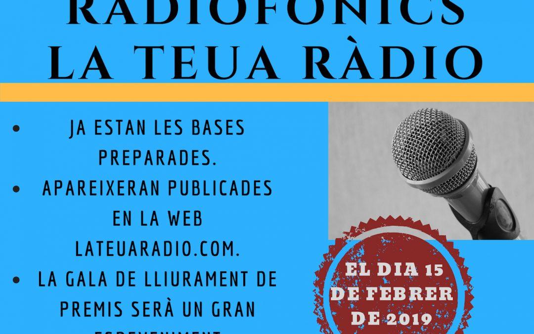 II CONCURS DE RELATS RADIOFÒNICS LA TEUA RÀDIO