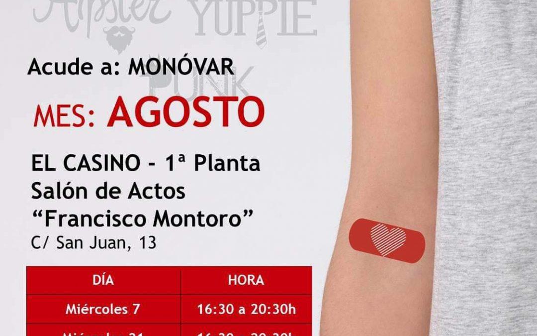 Noves donacions de sang en agost a Monòver Monòver
