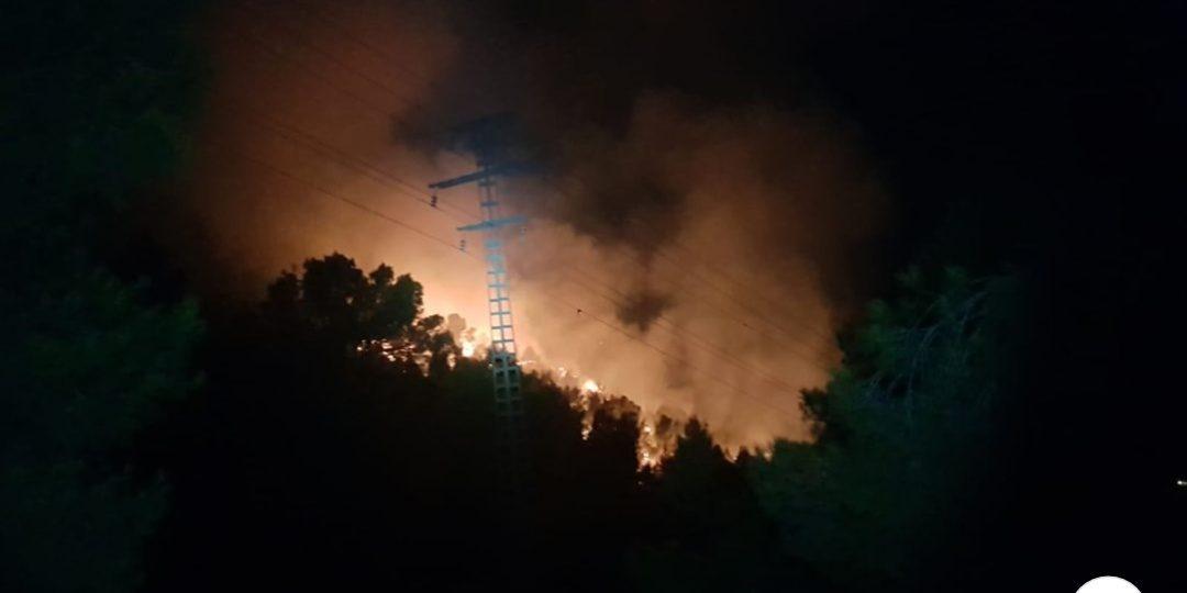 L'incendi registrat anit en el paratge Natural Municipal de la Serra del Coto del Pinós ha afectat a 3,24 hectàrees de vegetació baixa i alta Successos