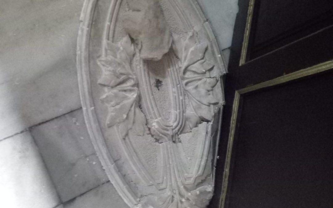 La tempesta d'anit deixa alguns desperfectes a l'església de Monòver Successos
