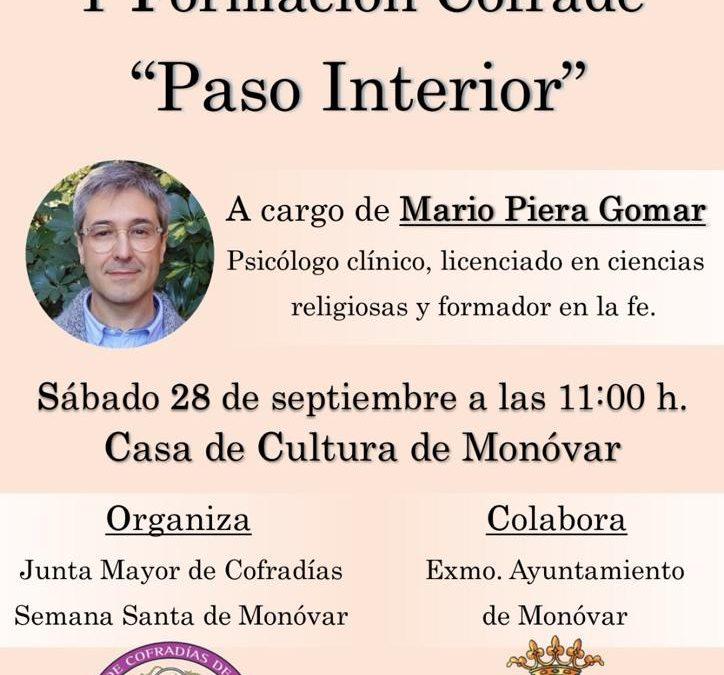 La Junta Major de Confraries de la Setmana Santa de Monòver organitza una Jornada d'Interioritat i Formació Confrare Monòver
