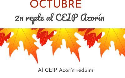 """L'alumnat de cinqué del CEIP Azorín de Monòver dissenya cartells del projecte """"9 mesos, 9 reptes"""" d'octubre Col·legis"""
