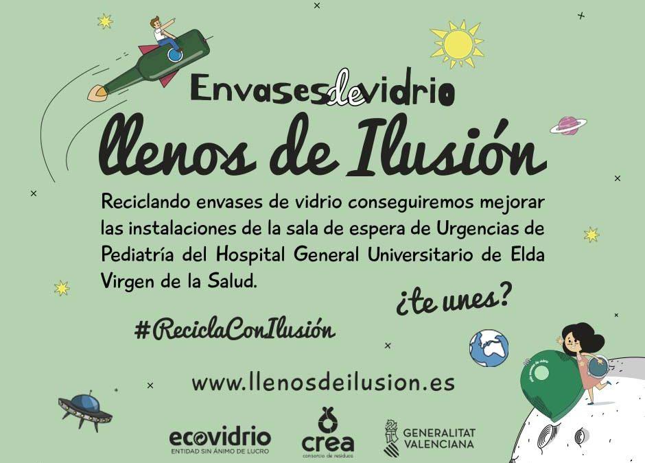 """Ecovidrio posa en marxa en els 14 municipis del Consorci de Residus Crea la campanya """"Plens d'il·lusió"""" Monòver"""
