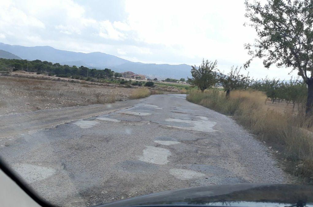 """El PP de Monòver reclama que """"arreglen de manera eficaç"""" els camins cap a les Canyades de Don Ciro Monòver"""