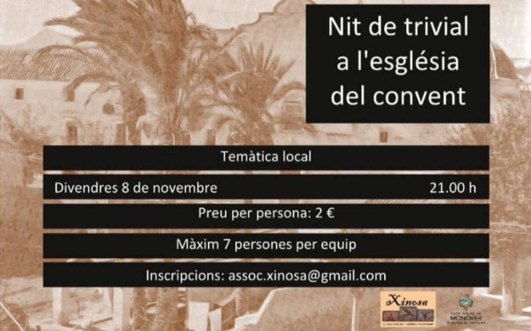 Xinosa celebrarà divendres la II Nit de Trívial a l'església del Convent de Caputxins Notícia destacada