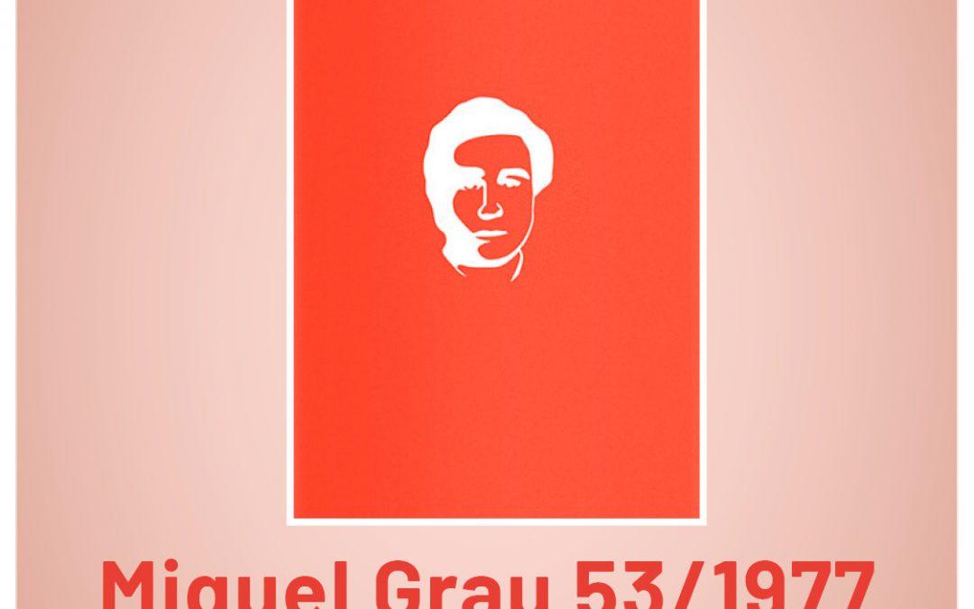 """Hui es presenta a Monòver el llibre """"Miquel Grau 53/1977"""", de Llum Quiñonero Notícia destacada"""