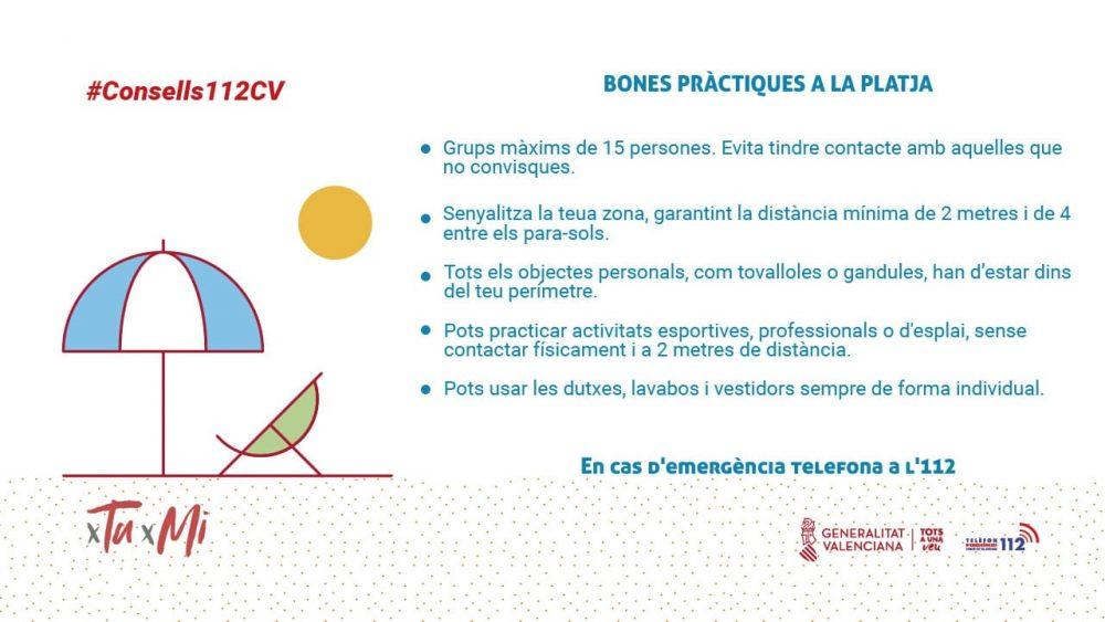 L'112CV recomana algunes «bones pràctiques» per a la «Nova Normalitat» a la platja Altres notícies - Coronavirus