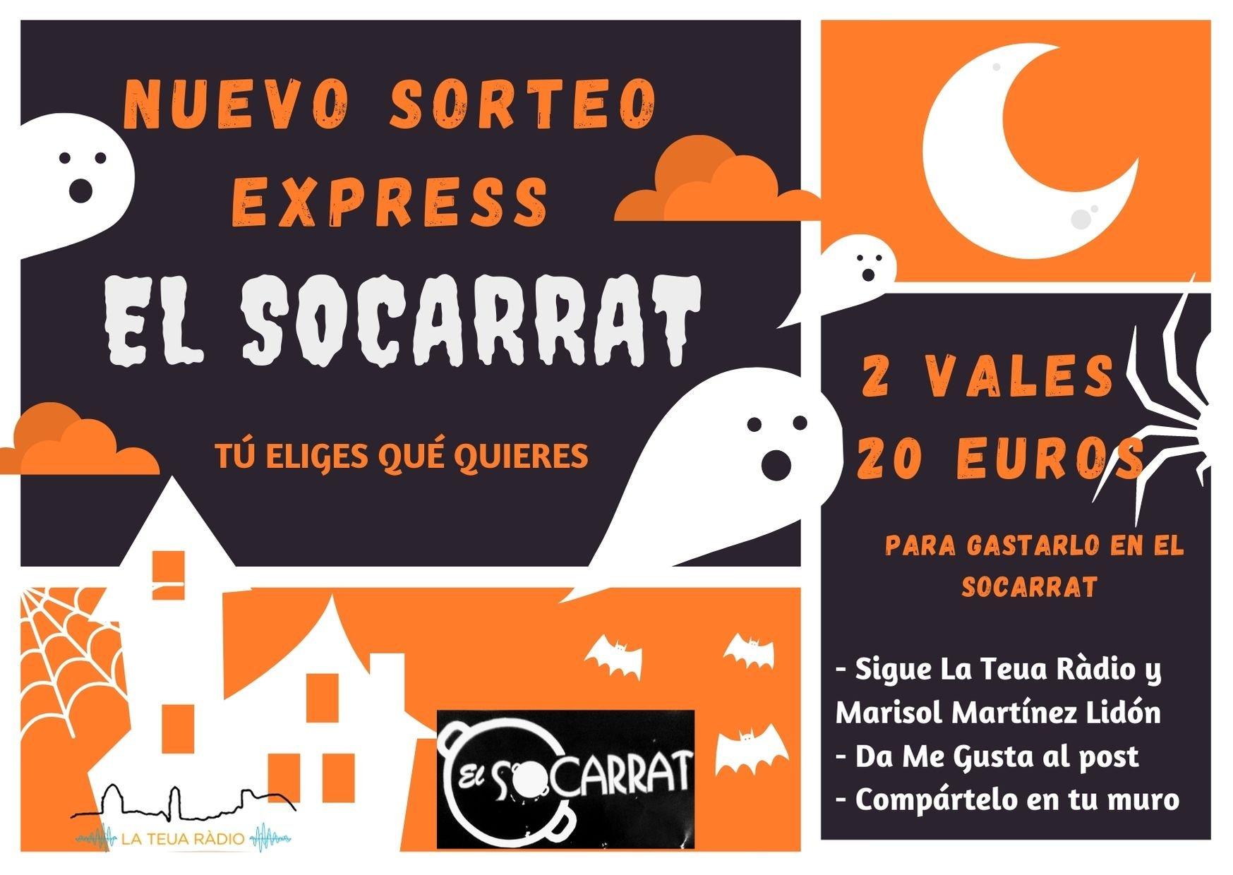 Sorteig Express Halloween «El Socarrat» EL SOCARRAT - LA TEUA RÀDIO