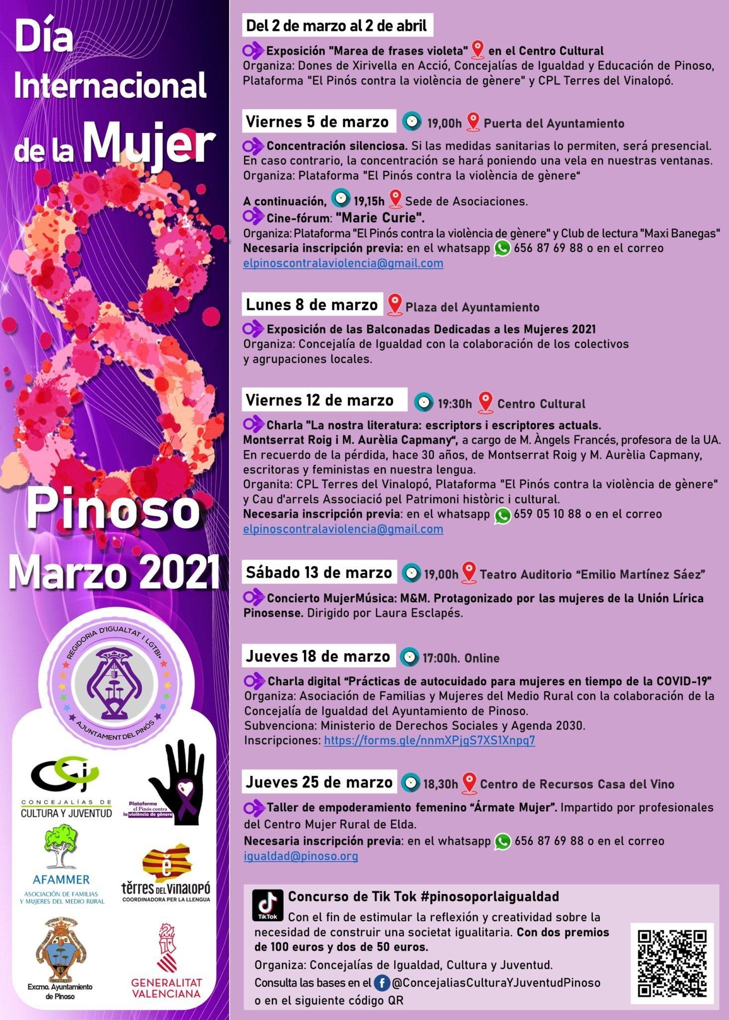 El Pinós celebra el mes de la dona Notícies del Pinós - #ElPinós